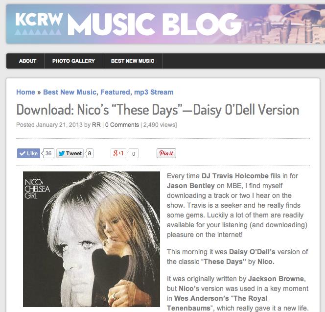 Daisy O'Dell » PRESS